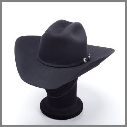 Black Serratelli hat in pure 6x quality felt