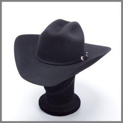 Bonnet Serratelli noir en pur feutre de qualité 6x