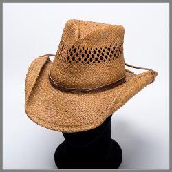 Cappello Shady Brady marrone con sottogola e corona traforata