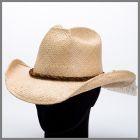 Chapeau naturel Shady Brady feuille de palmier avec bande de cuir