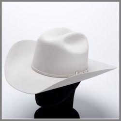 Cappello Serratelli color ghiaccio in puro feltro qualità 6x
