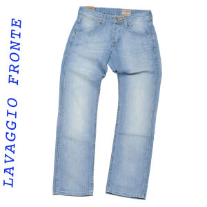 Wrangler jeans manivelle mi lavage vintage