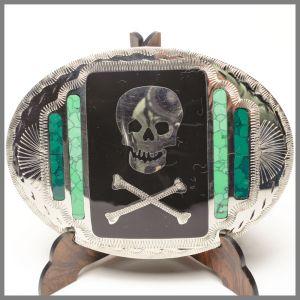 Johnson & Held 0916 buckle with skulls and bones