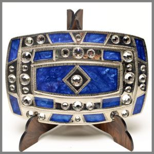 Johnson & Held 1077 blue buckle with stones