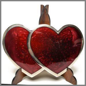 Johnson & Held 1203 double heart buckle