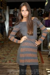 Robe sud fil gris brun