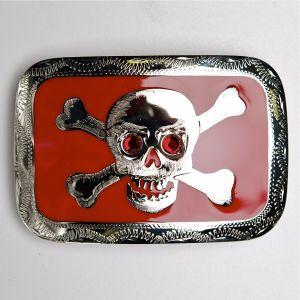 Johnson & Held buckle 1535 skull and crossbones