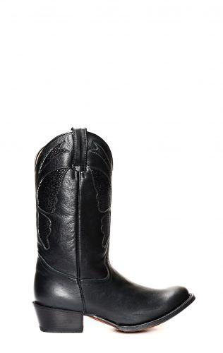 Tony Mora boots with manta leather insert