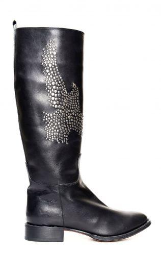 Black Tony Mora boots with conchos