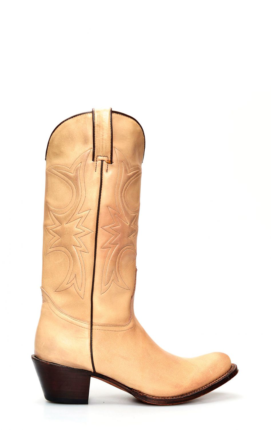 9b8cf2aa9bb Tony Mora boots in light brushed leather | TM002660