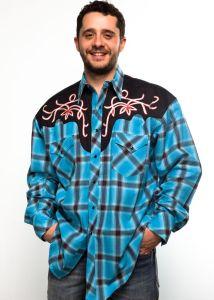 Camicia western Rockmount uomo  6882 turchese