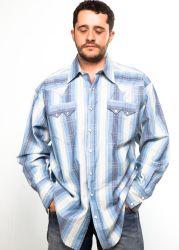 Camicia western Rockmount blue