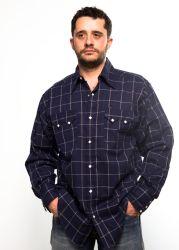 Chemise Rockmount bleue à larges carreaux bleus