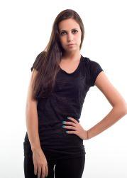 Liberty wear leadies t-shirts 7310 black transparent