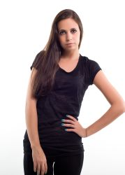 Liberty wear leadies t-shirts 7310 nera trasparente