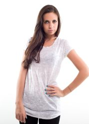Liberty wear leadies t-shirts 7310 bianca trasparente