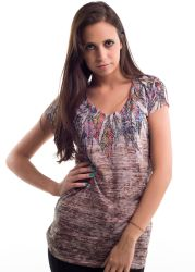 Liberty wear leadies t-shirts 7329 feathers