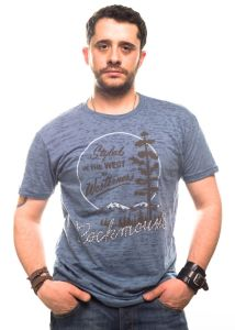 Rockmount t-shirt styled the west rosa