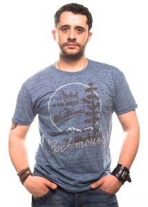 T-shirt Rockmount de style rose ouest