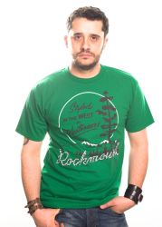Rockmount t-shirt styled the west green