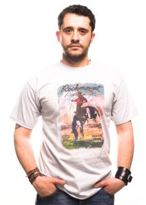 Bronco riding rockmount t-shirt