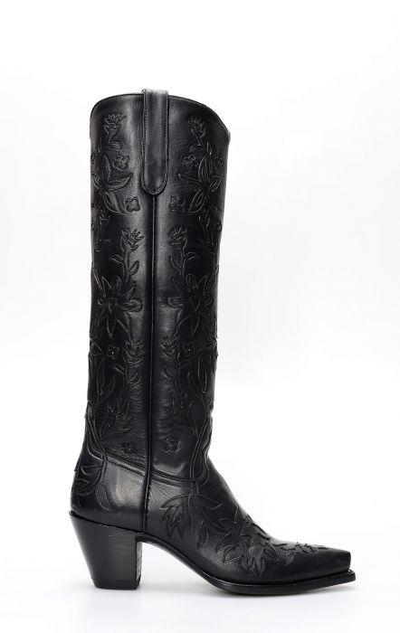 Stivali della collezione Pineda Covalin alti con intarsi tono su tono