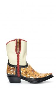 Stivali Texani della collezione Pineda Covalin con intarsio floreale