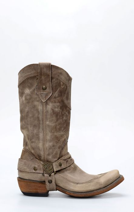 Dark Brown Liberty Black Boots with Strap