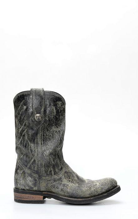 Bottes Liberty Black en cuir gris vieilli
