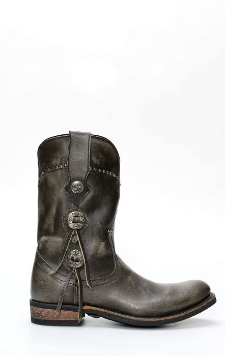 Liberty Black boots in brushed leather