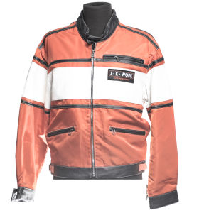 Orange JKWork jacket with white band