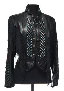 Ren Ellis women's jacket, unique piece! With silver and turquoise