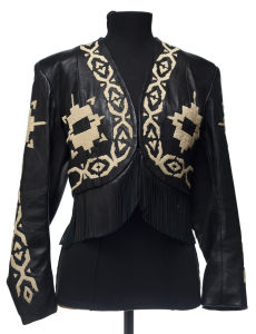 Ren Ellis women's jacket, unique piece! With fringes and beads