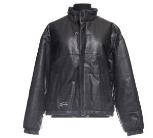Chambers jacket and down jacket in black leather