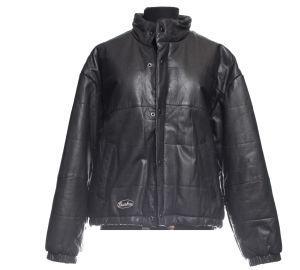 Veste Chambers et doudoune en cuir noir
