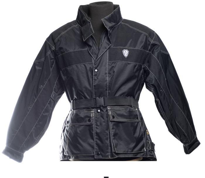 Veste imperméable noire Arlen Ness en matériel technique
