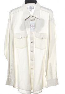 Camicia western by crazy cowboy bianca con logo sulla spalla