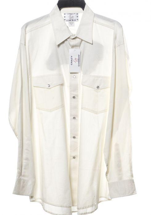 Camicia western by crazy cowboy bianca con logo