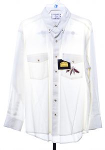 Western shirt by crazy white cowboy with Indian logo
