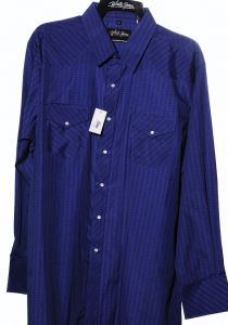 Camicia western by white horse navy