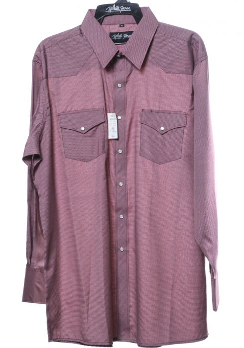 Camicia western by white horse burgundy