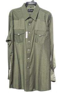 Chemise de cheval blanc occidentale verte
