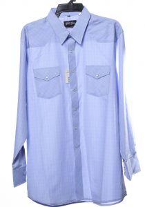 Blue white western horse shirt