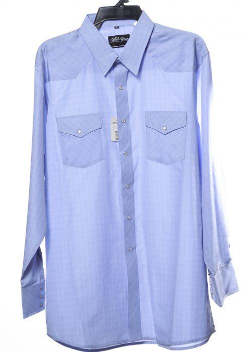 Chemise western blanche et bleue