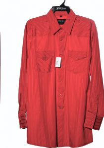 Chemise de cheval blanc occidentale rouge