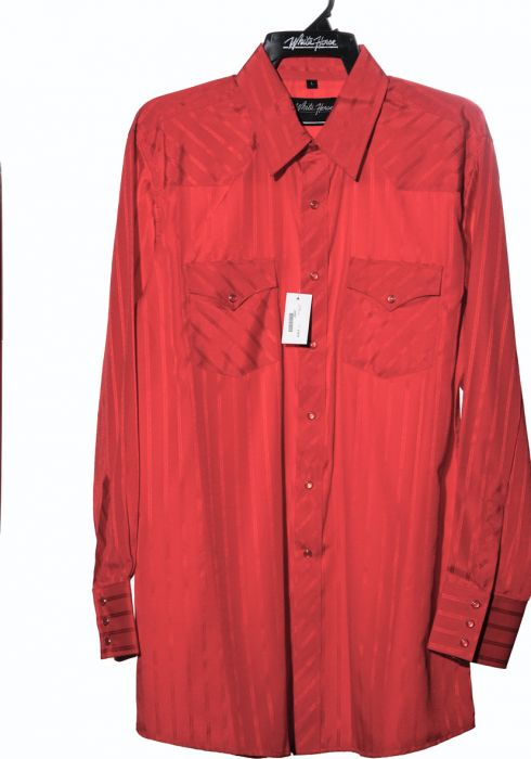 Chemise de cheval blanc occidentale rouge