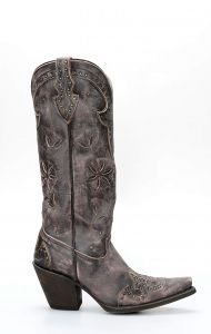 Caborca pink and brown brushed boots
