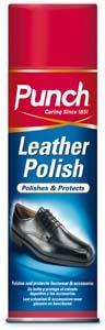 Spray per pulire oggetti in pelle.